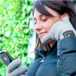 Перчатка-телефон. Удобно разговаривать зимой