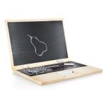 laptop made of wood