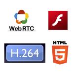 Кодек H.264, технология Flash, HTML5 и WebRTC