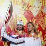 Эстафета олимпийского огня в Петрозаводске