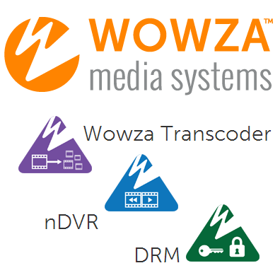 Модули Wowza Streaming Engine: Wowza Transcoder, nDVR и DRM