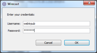 Wirecast_enter_your_credentials