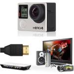 Экшен камеры GoPro и SJ4000. Подключение по HDMI к карте захвата  Blackmagic