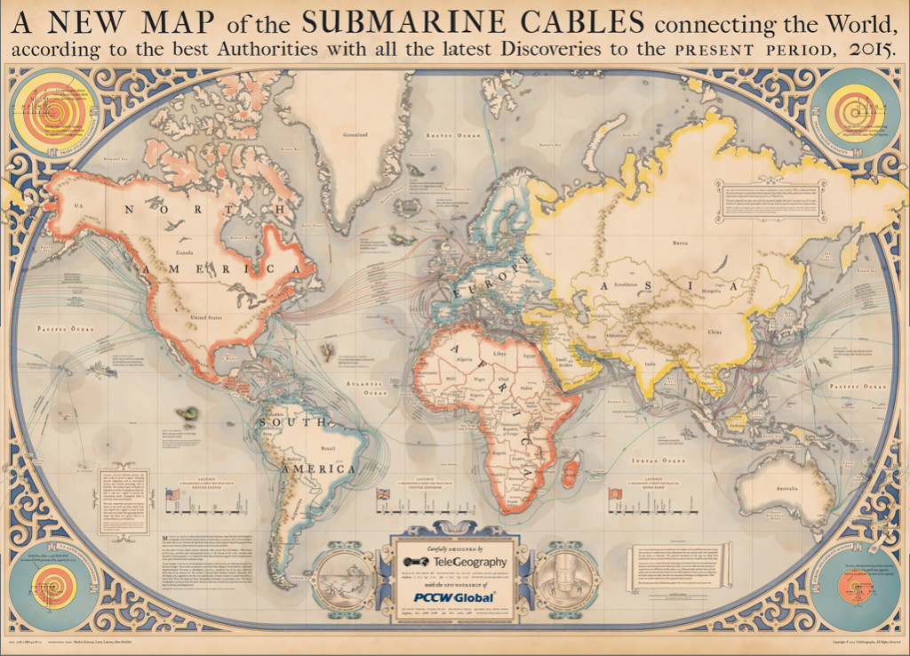 Submarine Cable Map 2015 and media streaming